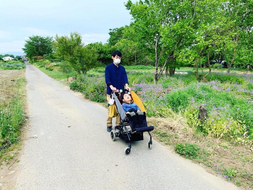 GW中に療育のお散歩コースをパパに見せてあげました。