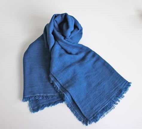 藍染マフラー